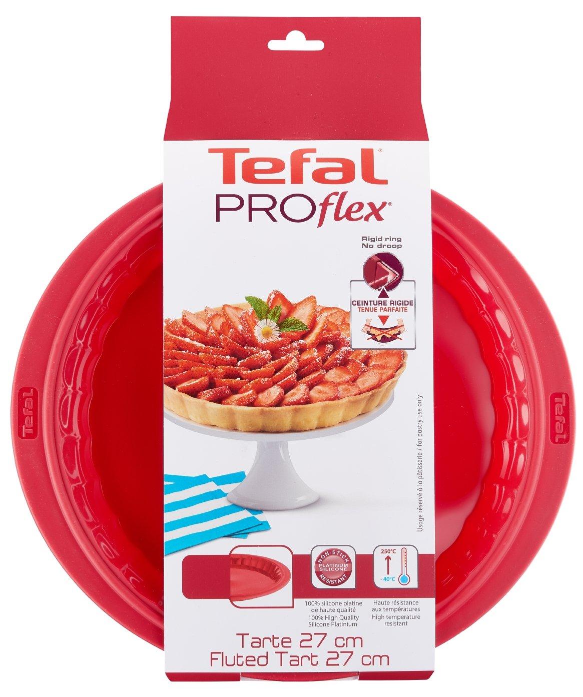 Tefal Proflex Molde para Tarta, Silicona, Rojo, 27 cm product image