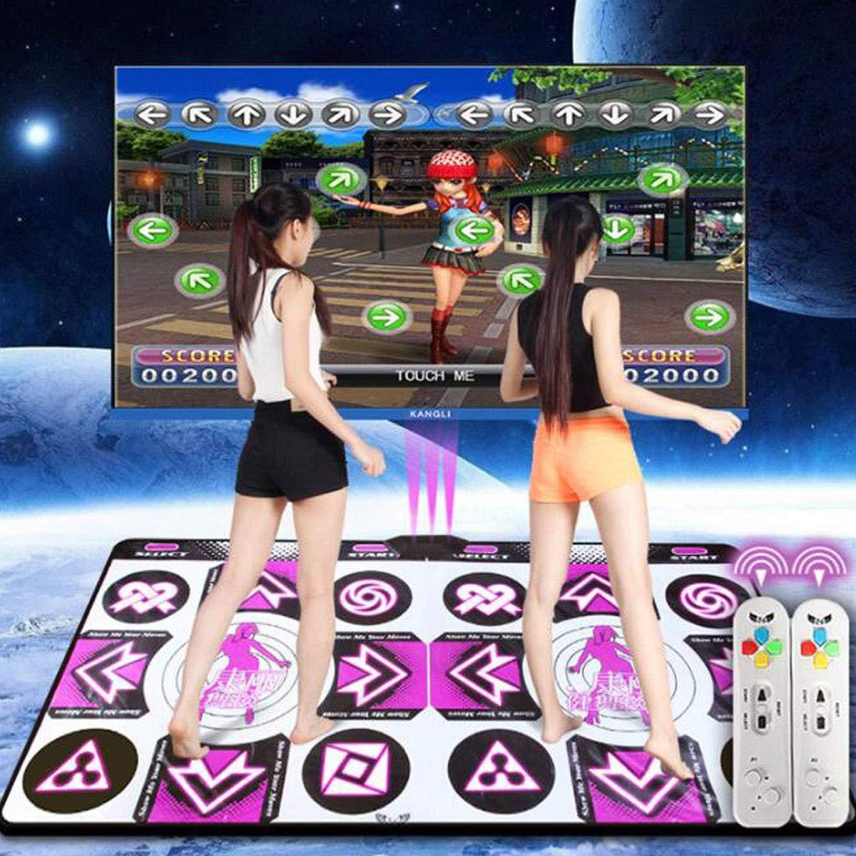 Z-SANMAO Tapis De Danse Double/Tapis De Danse Wii/Ordinateur/Télévision Double Usage,Tapis De Danse Tapis De Danse Danse/Tapis De Danse Adulte/Enfant