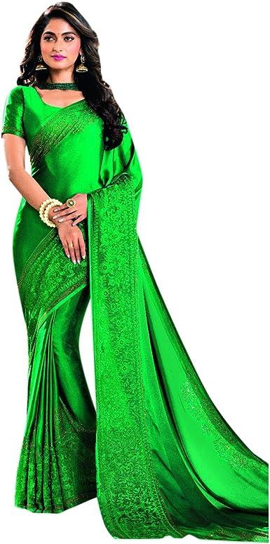 Satén Swarovski Trabajo Bollywood Ladies Alto diseñador Saree Sari Indio Tradicional étnico Blusa Enagua Cosido Salwar Nuevo Kameez Mujeres Vestido Chica 2751: Amazon.es: Ropa y accesorios