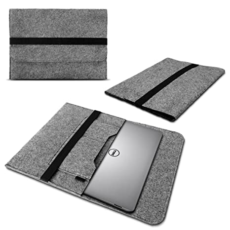 Laptop sleeve funda para Dell XPS 15 ordenador portatil netbook Ultrabook Case resistente Fieltro en gris