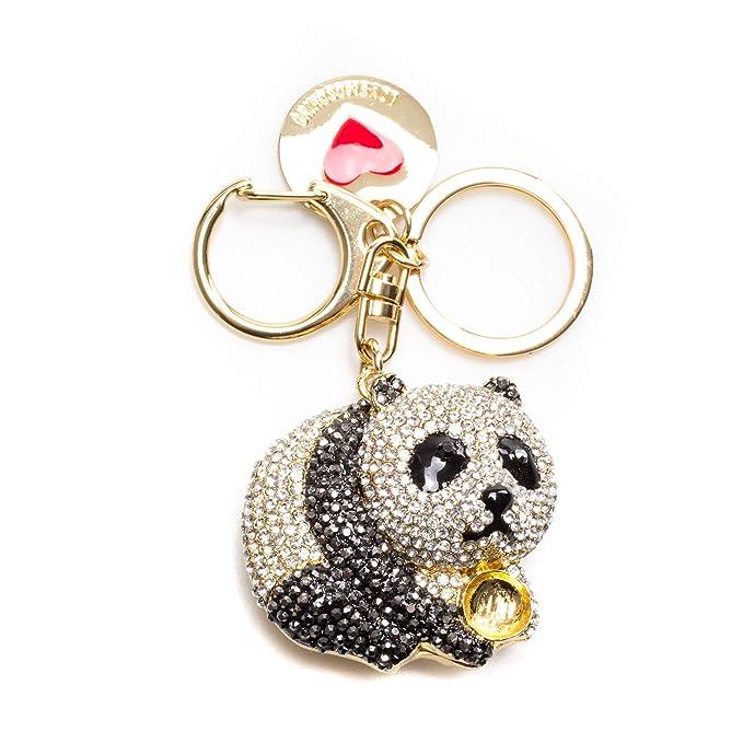 afb2898412 Moschino Love Portachiavi Panda In Metallo Oro, UNICA, oro: Amazon ...