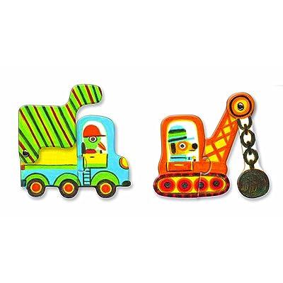 Puzzle Duo Articulo Vehicule par Djeco