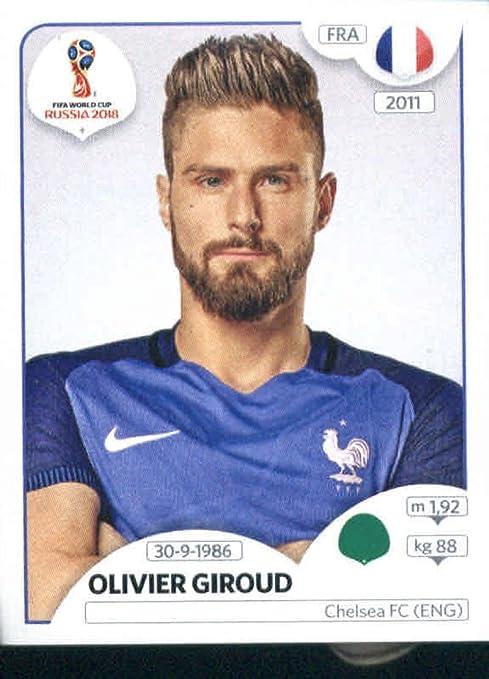 World Cup Stickers Russia Pegatinas de Copa del Mundo Rusia 2018 Panini 206 Olivier Giroud Francia fútbol adhesivo: Amazon.es: Deportes y aire libre