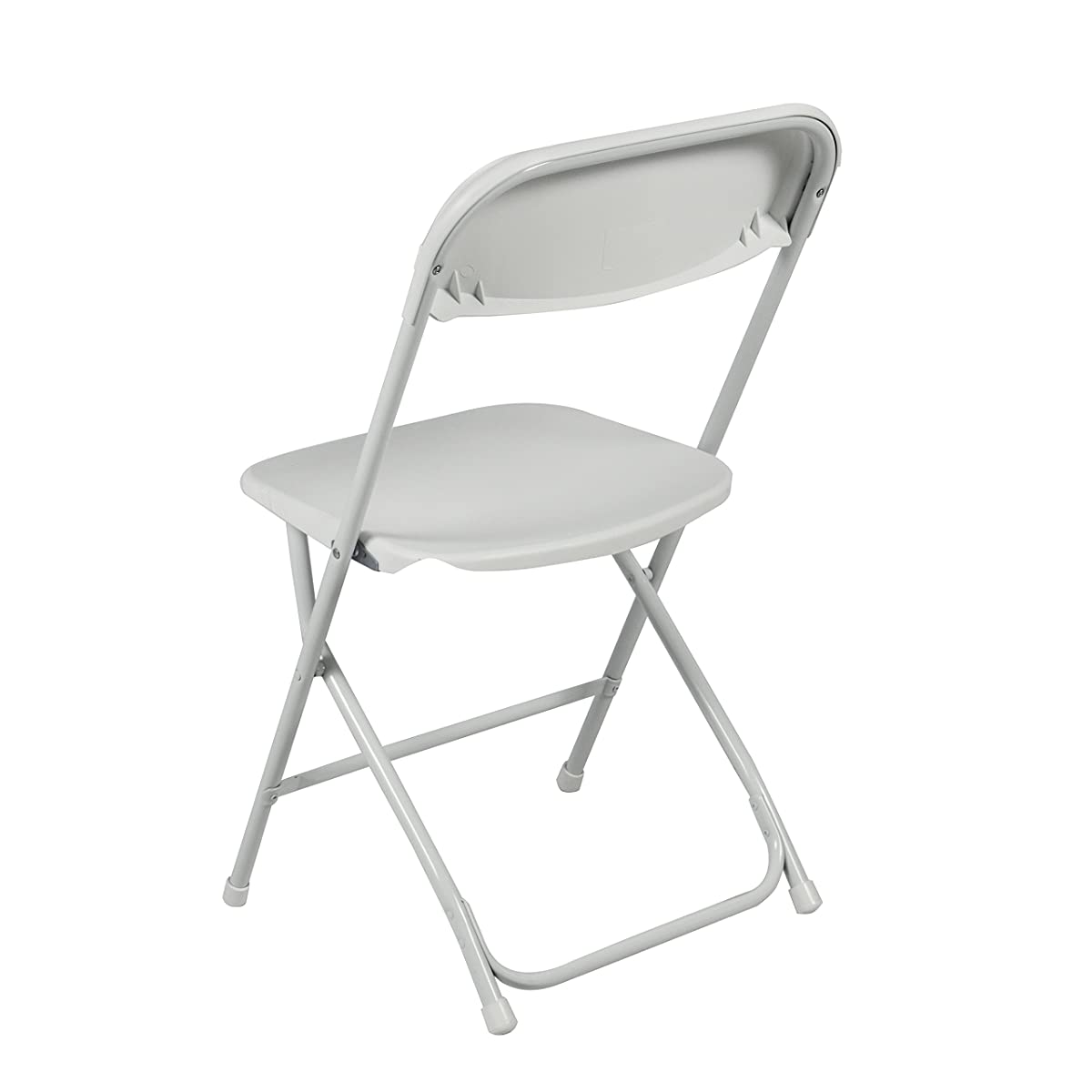 Best Choice Products 5 Commercial White Plastic Folding Chairs Stackable Wedding Party Event Chair