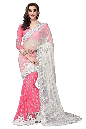 d556e51313 Sareeshop Georgette Saree (Zoyapink_Pink): Amazon.in: Clothing ...
