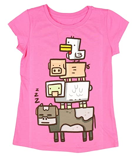 Minecraft Girls' Animal Totem Girls' Youth T-shirt (Extra Large (14/16))