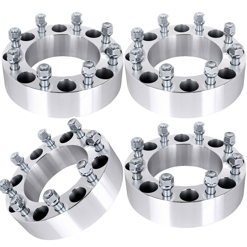 ECCPP 4PCS 1.5' 8 Lug Wheel Adapters Spacers 8x6.5 or 8x165.1 126.15mm for Chevy/Dodge Series with 9/16 studs BHBU0503A4684
