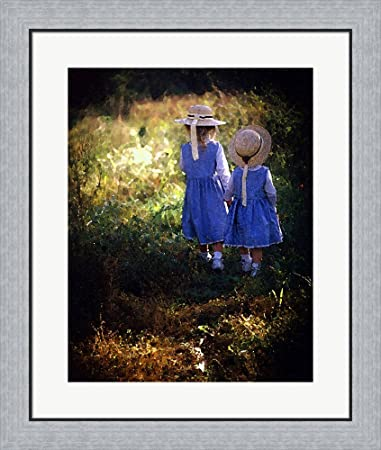 Amazon.com: Sisters by Kelly Cline Framed Art Print Wall Picture ...