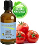 """TOMATO SEED Carrier Oil. 100% Pure / Natural / Undiluted / Virgin / Cold Pressed for Skin, Hair and Lip Care. """"One of the newest additions to our ever growing line of natural Carrier Oils."""" (0.33 fl.oz-10ml.)"""
