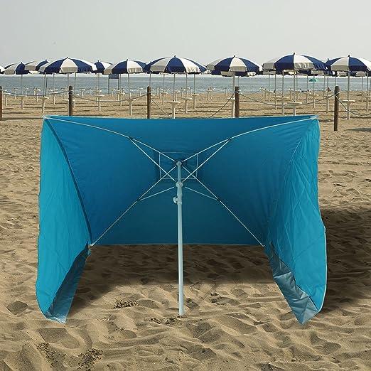 PAPILLON 8042680 Sombrilla Playa con Laterales Antiviento 170x170 cm: Amazon.es: Jardín