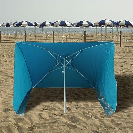 Ombrelloni Da Spiaggia Vendita.Ombrellone Da Spiaggia Poly Tinta Unita 170x170cm Amazon