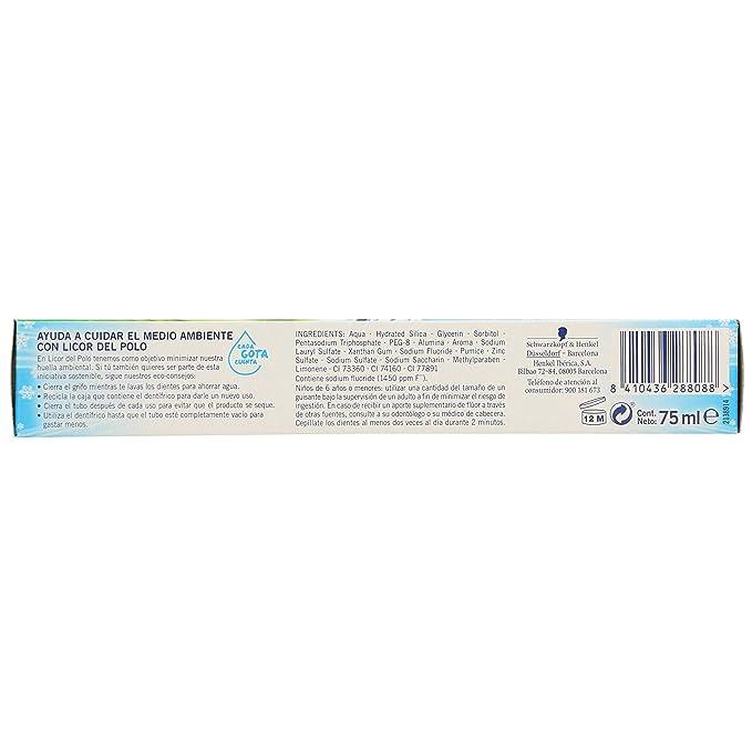 Licor del Polo - Dentífrico Frozen Senses Limpieza Completa - 75ml ...