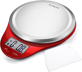 Nutri Fit Digital Kitchen Scale with Dough Scraper