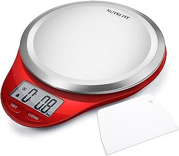 Nutri Fit Digital Kitchen Scale with Dough Scraper