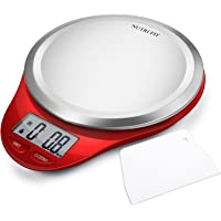 digital kitchen scale with dough scraper nutri fit high accuracy multifunction food scale with lcd - Best Kitchen Scale