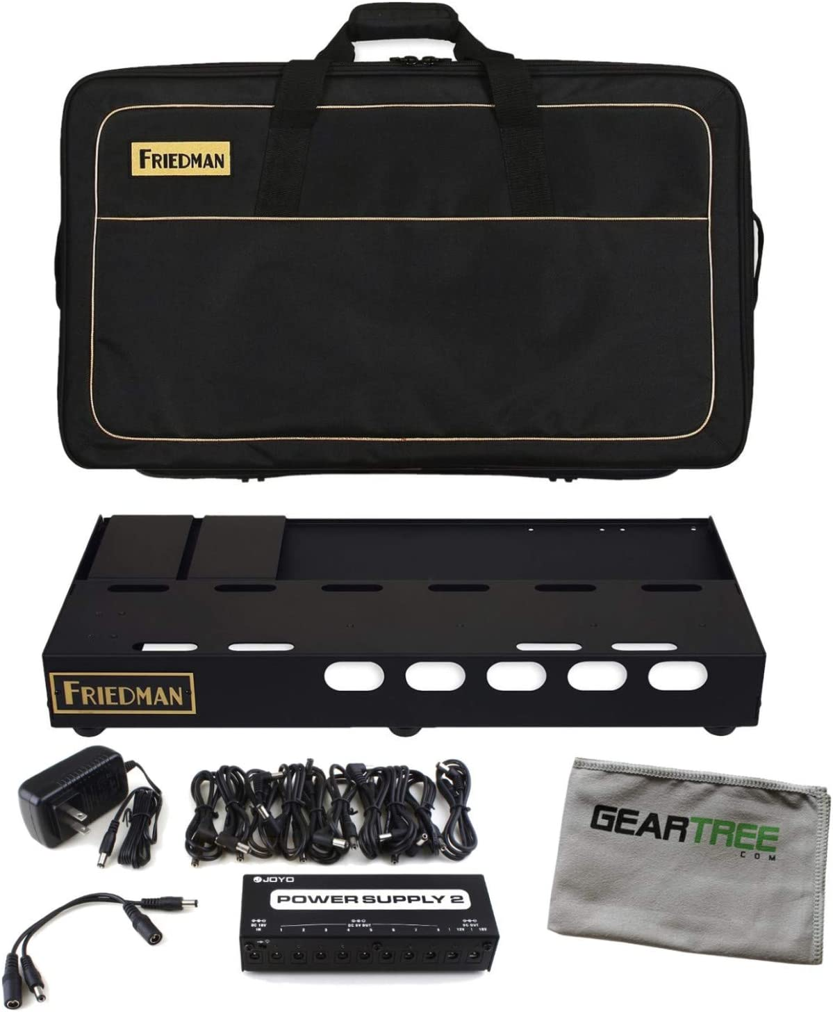 Friedman Tour Pro 1525 15''' x 25''' Pedal Board with Bag, Accessories and Riser