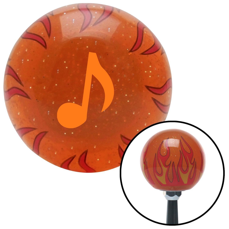 Orange Music Note American Shifter 254553 Orange Flame Metal Flake Shift Knob with M16 x 1.5 Insert