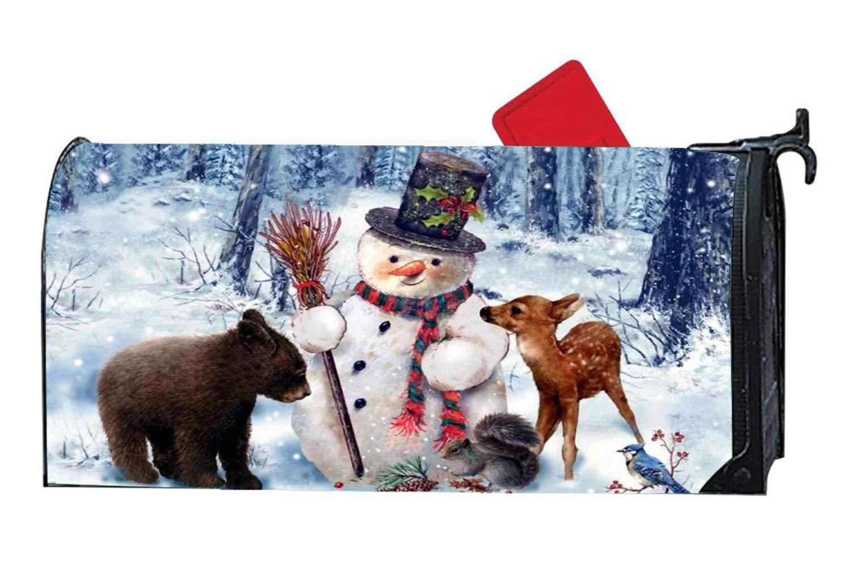 Funny Snowman Deer Bear Friends