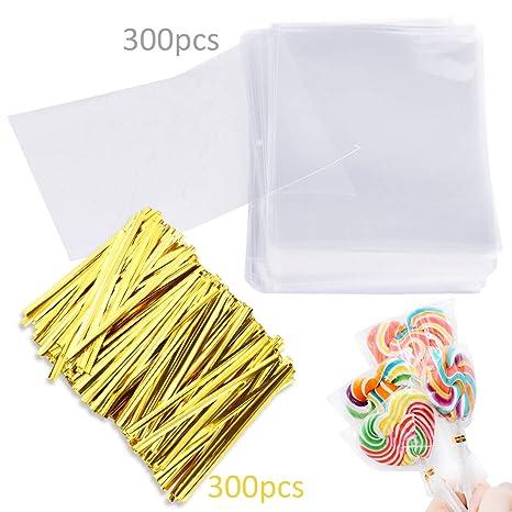 Amazon.com: Augshy - Bolsas de plástico para tartas Lollipop ...