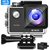 Victure AC600 Action Camera 4K WiFi 16MP UHD Sports DV Camera 30M Waterproof Underwater Camcorder