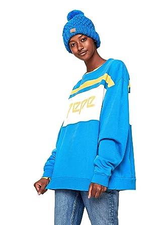 Pepe Jeans PL580753 Sudadera Mujeres Azul L: Amazon.es: Ropa y accesorios