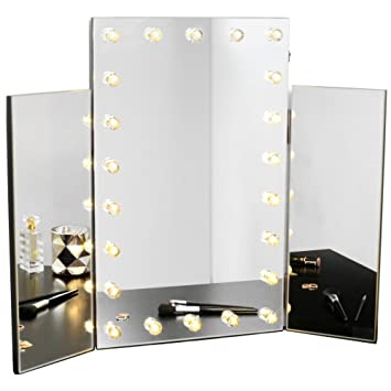 Beautify Vanity Beauty Makeup Mirror Dressing Table Tri Fold