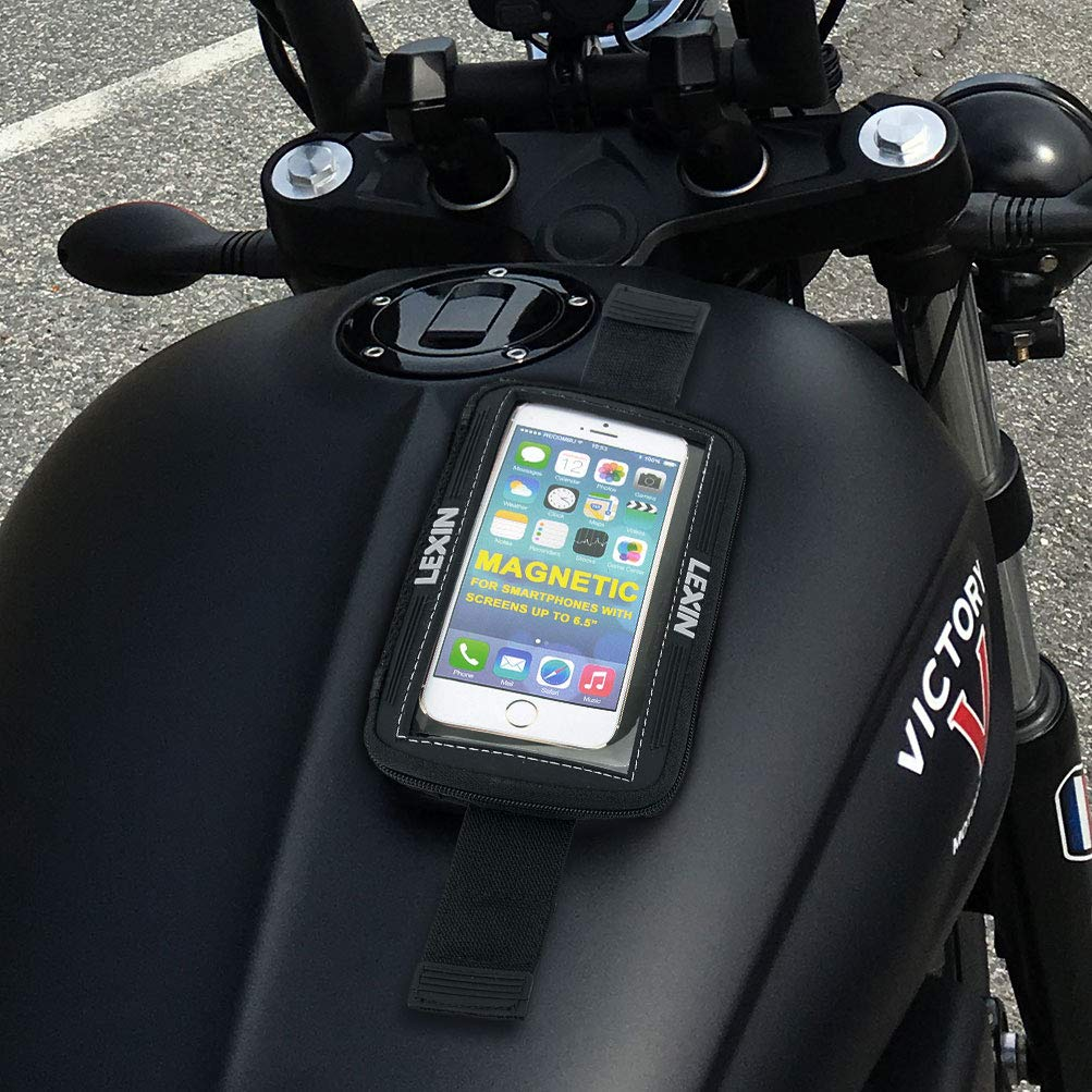 Motorcycle Phone Case//Phone Holder Fits Android//for iPhone LX-MTB06 5.7 Magnetic Tank bag