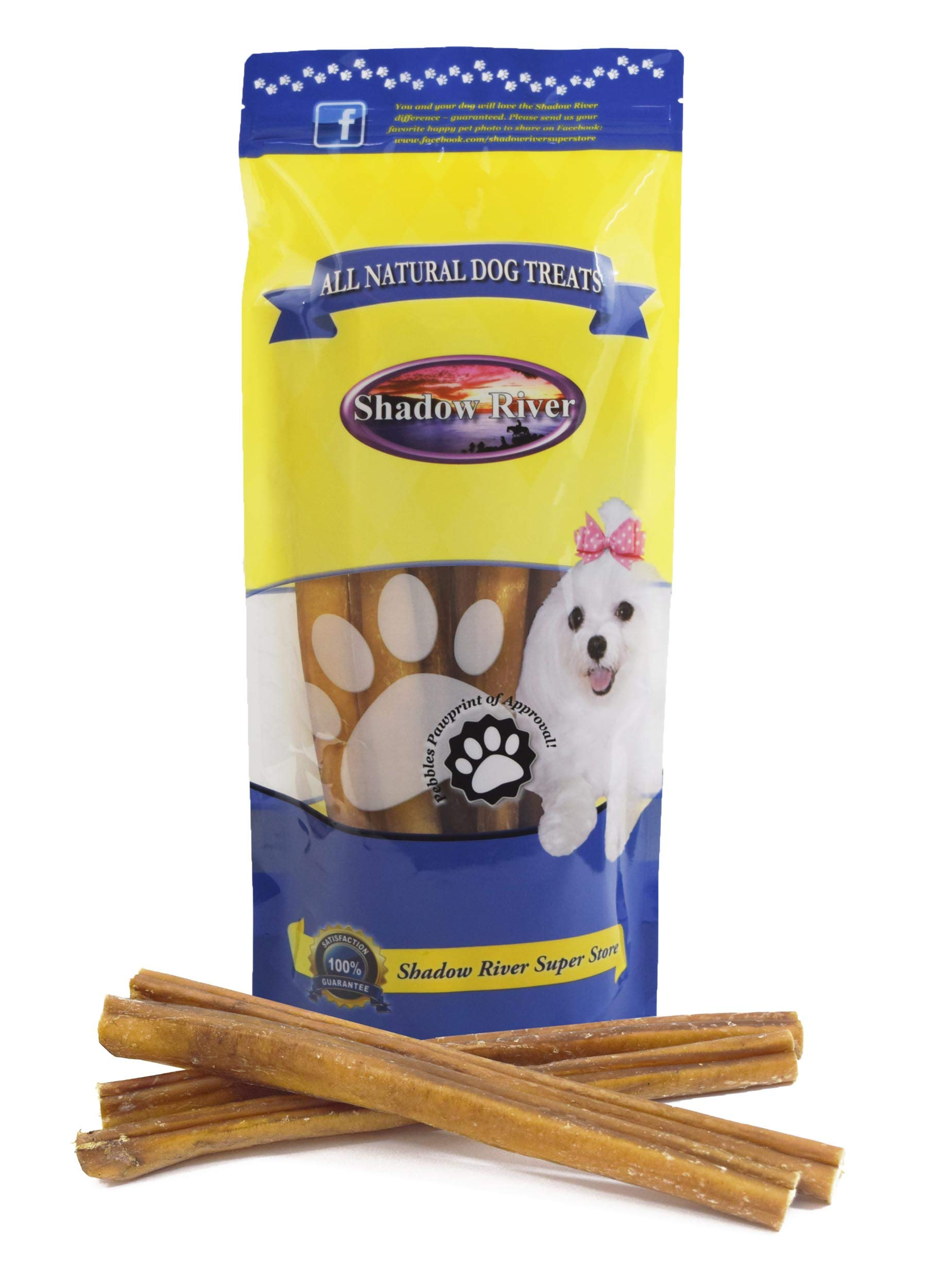 Shadow River 10 Pack 12 Inch Jumbo All Natural Premium Beef Bully Sticks for Dogs