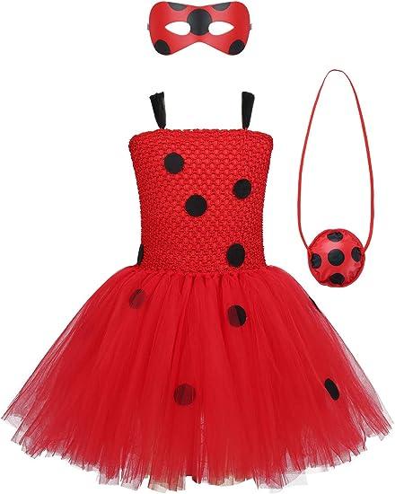 MSemis Disfraz de Mariquita Niñas Traje Ladybug con Lunares ...