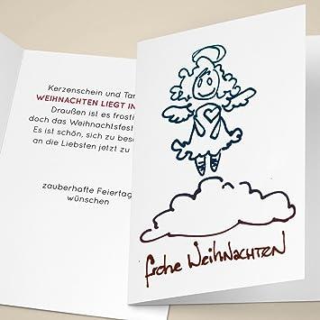 Weihnachtsgrüße Text Für Mitarbeiter.4er Set Schöne Unternehmen Weihnachtskarten Mit Süßem Herz