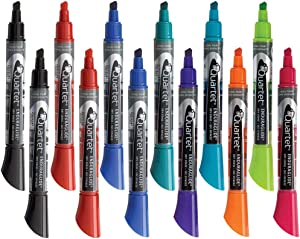 Quartet Dry Erase Markers, Whiteboard Markers, Chisel Tip, EnduraGlide, Assorted Colors, White Board Dry Erase Pens for Teachers, Home School & Office Supplies, Bold Color, 12 Pack (5001-20MA)