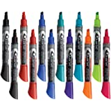 Quartet Dry Erase Markers, Whiteboard Markers, Chisel Tip, EnduraGlide, BOLD COLOR, Assorted Colors, 12 Pack (5001-20MA)
