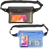 Syncwire Waterproof Pouch Bag with Adjustable Waist Strap (2 Pack) - IP68 Waterproof Waist Bag Screen Touchable Dry Bag with