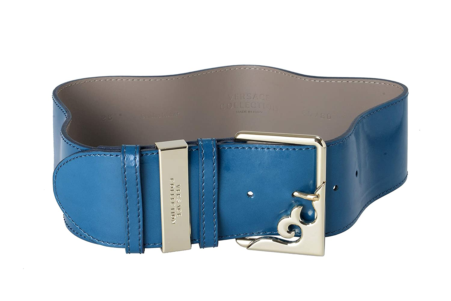 Versace Collection 100% Leather Pine Green Women's Belt US 65 IT 80