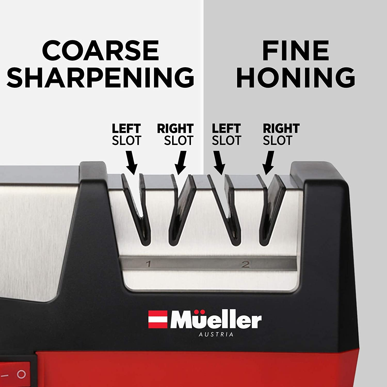 Mueller Professional Electric Knife Sharpener for Straight Knives Diamond Abrasives, Quickly Sharpening, Repair/Restore/Polish Blades: Kitchen & Dining