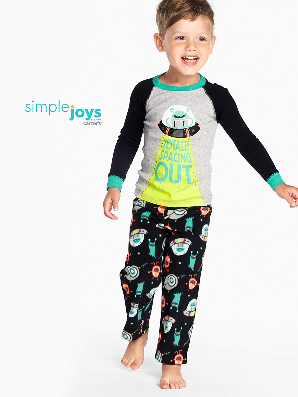4-teilig Simple Joys by Carters Jungen Schlafanzug-Set aus Baumwolle