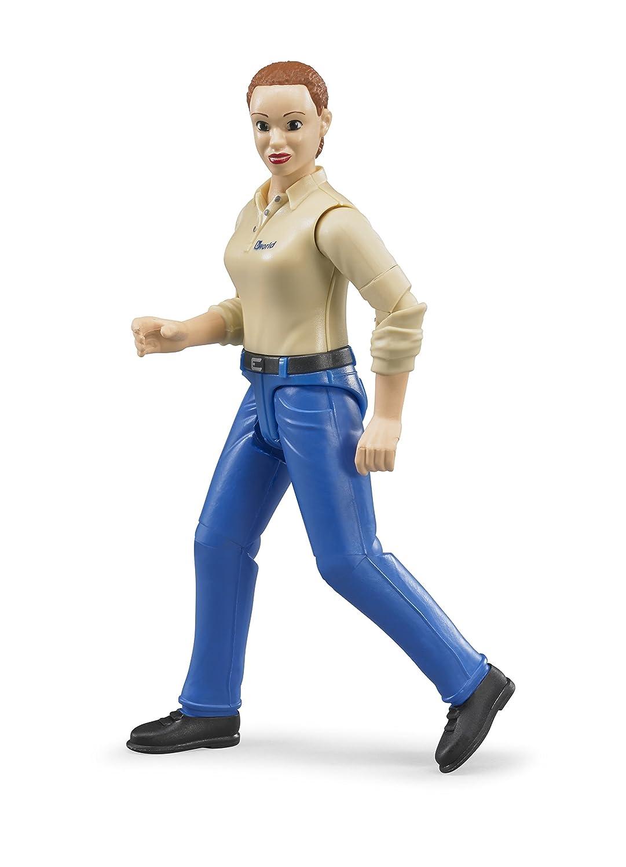 Blue Jeans Toy Figure light Skin Bruder Woman