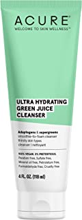 product image for ACURE Ultra Hydrating Green Juice Cleanser | 100% Vegan | Intense Moisture for Super Thirsty Skin | Supergreens & Adaptogens - Purifies, Deep Cleanses & Refreshes | 4Fl Oz