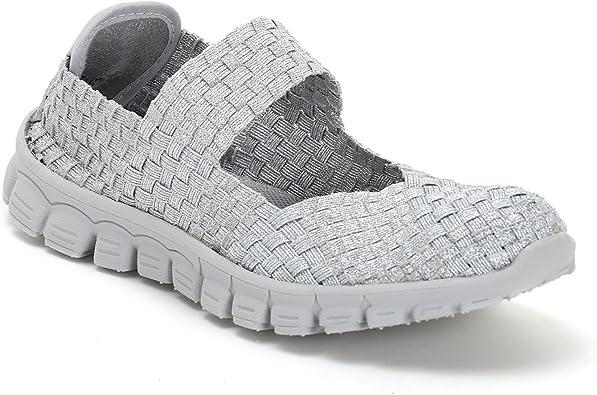 Alesya Sport by Scarpe&Scarpe Slipper mit Gummizug, Sneakers 37,0, Silber