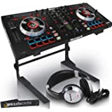 Numark Mixtrack Platinum DJ Controller with Serato   Includes Laptop Stand and HF125 Headphones