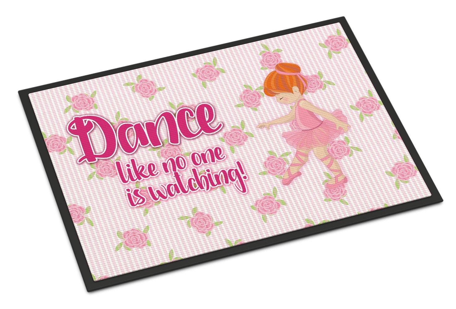 Caroline's Treasures Ballet Dance Red Hair Doormat, 18 H x 27 W'', Multicolor