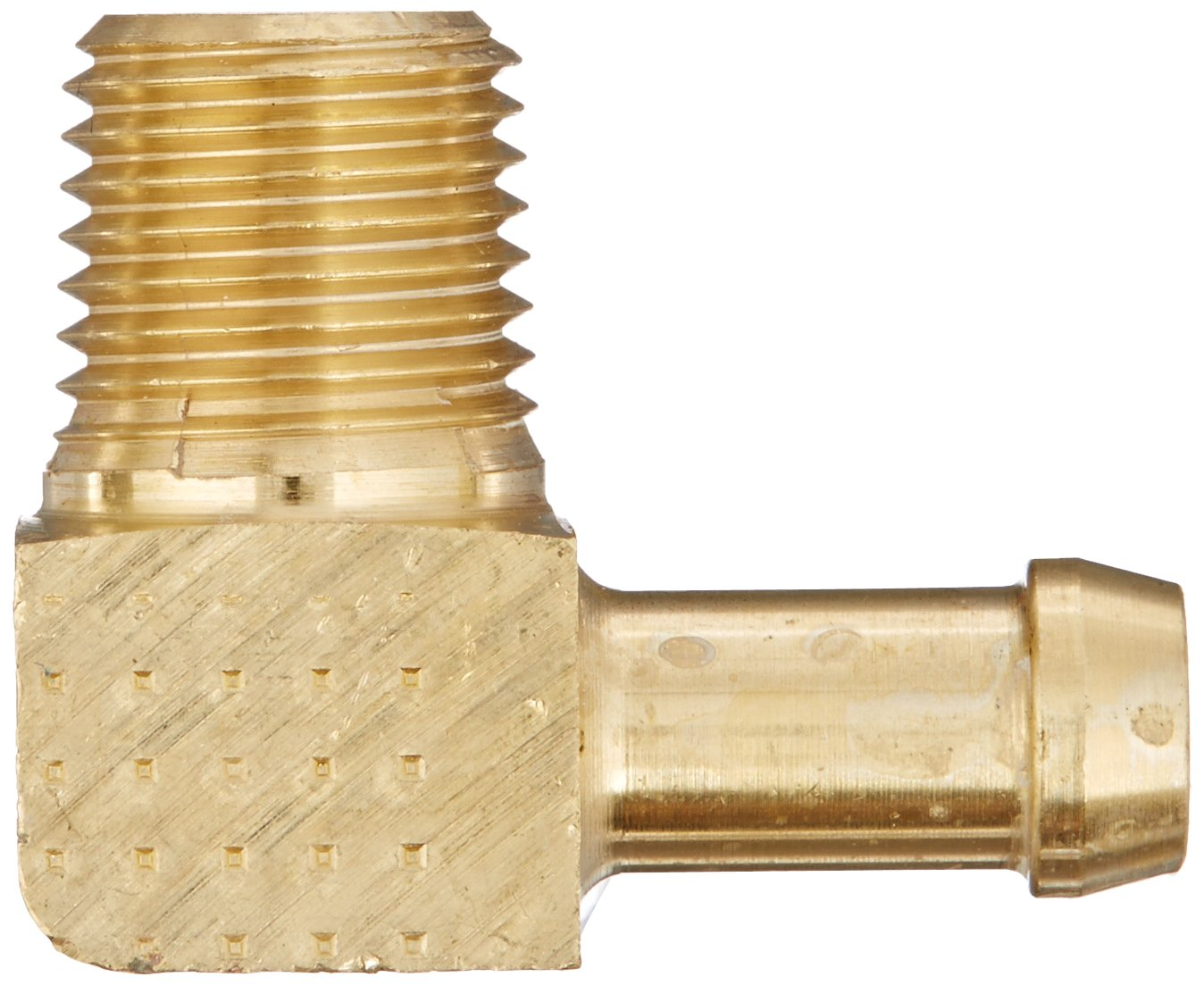 CA360 Brass 1//4 Pipe Size 5//16 Hose ID 1//4 Pipe Size 5//16 Hose ID 90 Degree EATON Weatherhead 05705B-C04 Male Pipe Rigid Elbow Fitting