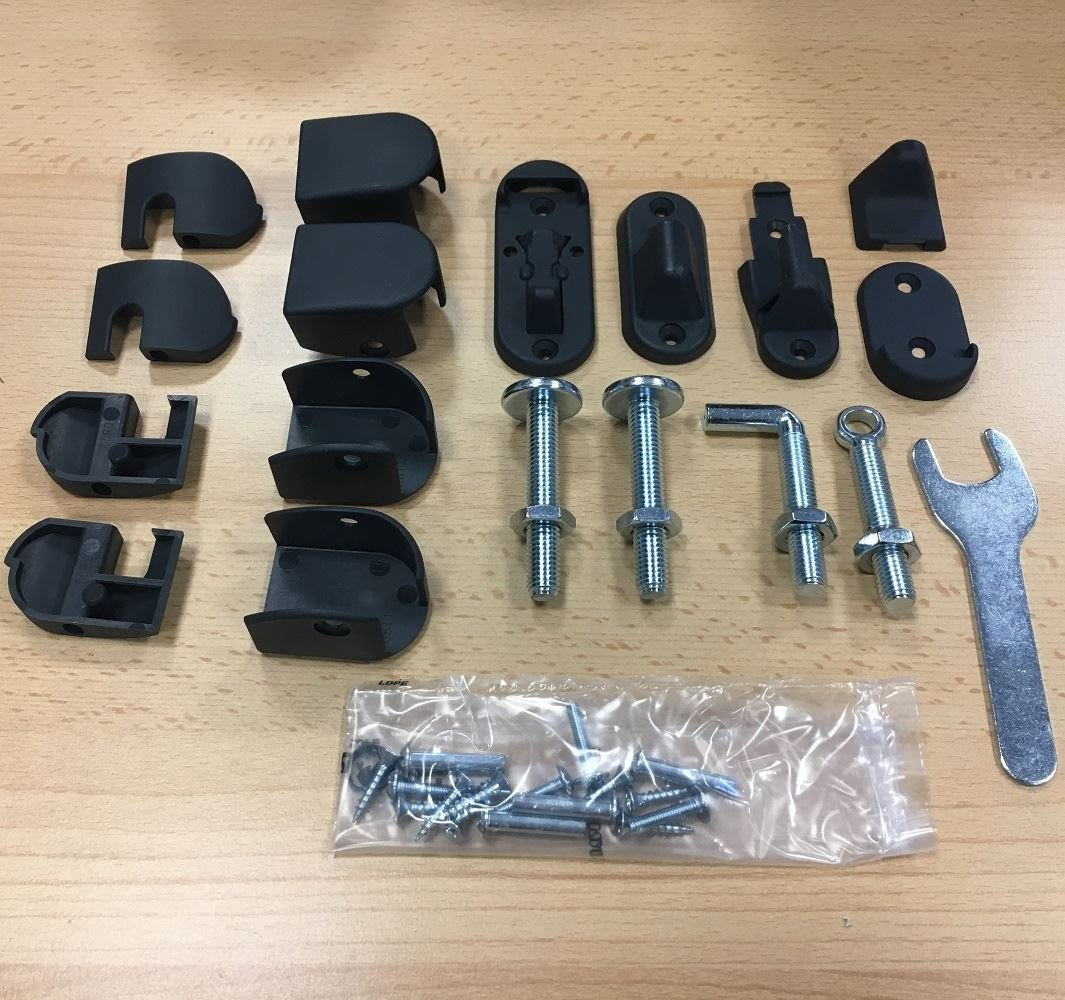 BabyDan Range of Stair Gates Spare Fitting Kits BabyDan XL Premier Black Fittings Kit