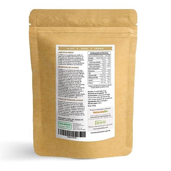 Maca Andina Ecológica en Polvo [ Gelatinizada ] 400g   Organic Maca Powder Gelatinized. 100% Peruana, Bio y Pura, extracto de raíz de Maca Organica.
