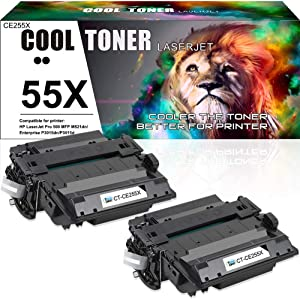 Cool Toner Compatible Toner Cartridge Replacement for HP 55A CE255A 55X M521dn for HP Laserjet Pro 500 MFP M521DN M525DN M521DW M525f HP Laserjet P3015dn P3010 P3015x P3015 P3015d P3015n P3016 Printer