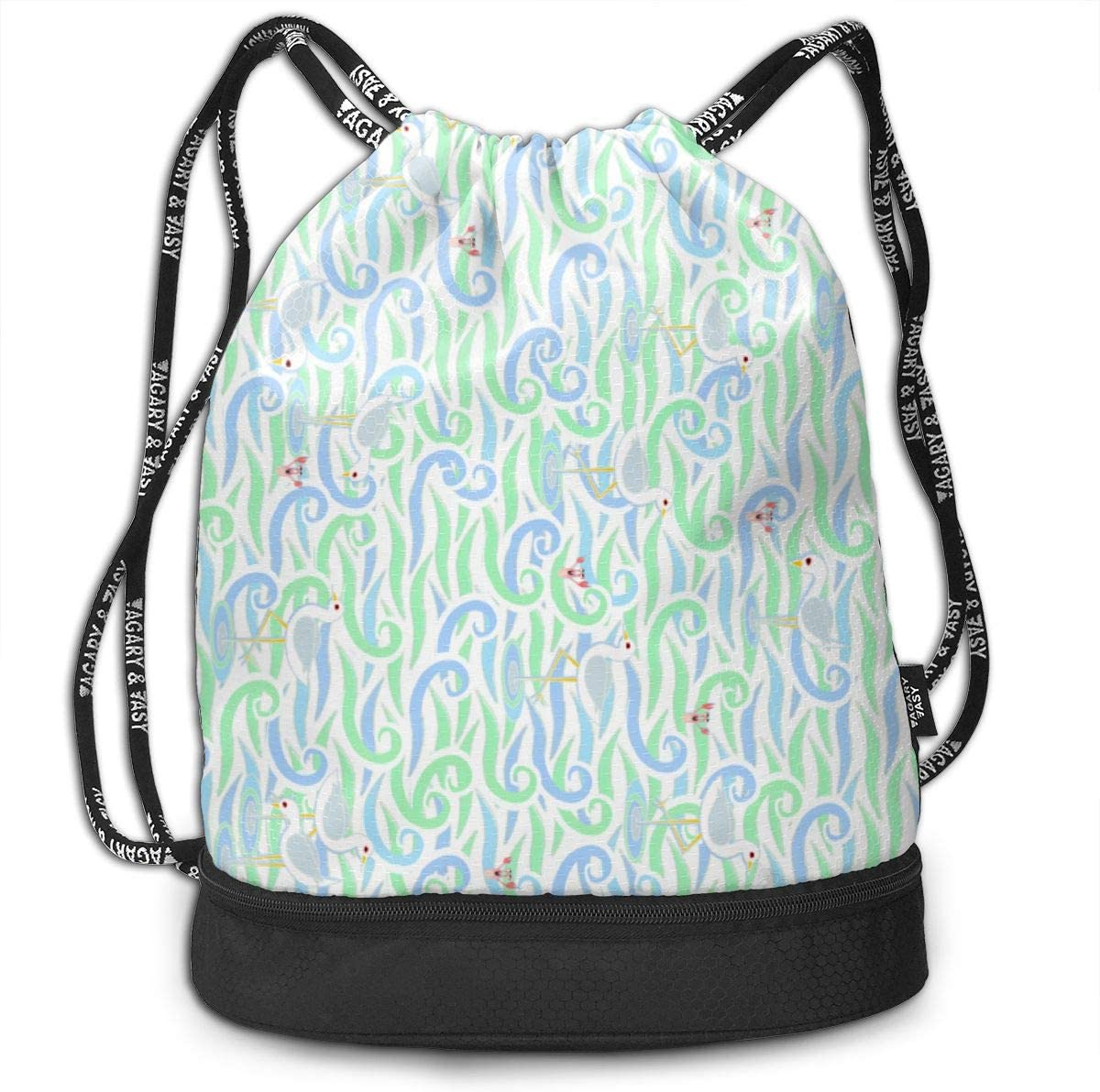 Turn90 You Cant Catch Me Railroad Orientation Drawstring Backpack Sports Athletic Gym Cinch Sack String Storage Bags for Hiking Travel Beach