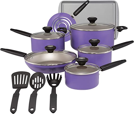 SilverStone 22037 Culinary Colors 2 Nonstick Cookware Pots and Pans Set