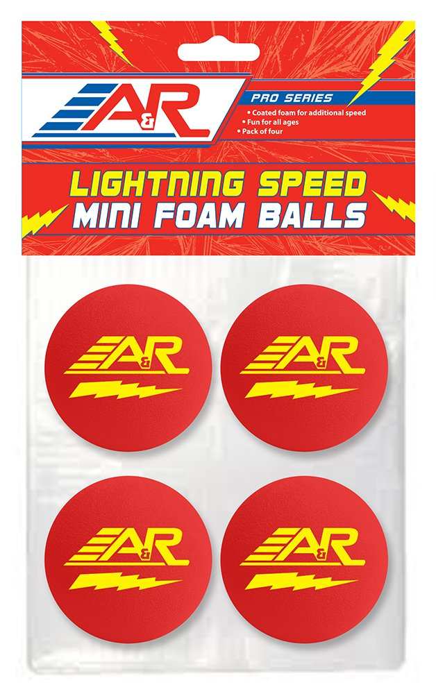 A & R Sports Pro Série d'éclairage Speed Mini Balles en mousse (lot de 4) A&R Sports SPEEDFOAMBALL_4