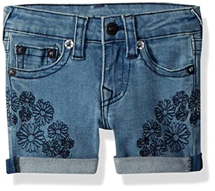 80674d009 True Religion Girls' Toddler Fashion Short, Daisy Blue, ...
