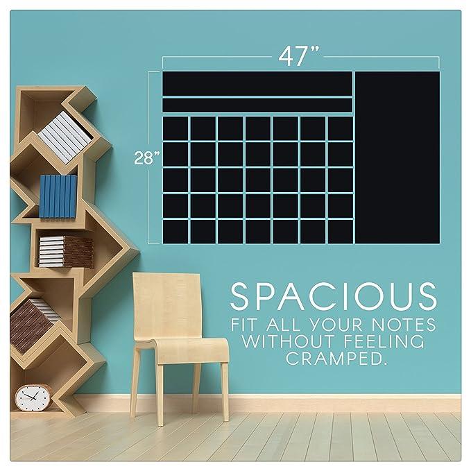 Amazon.com: Calendario de pared de pizarra adhesivo ...